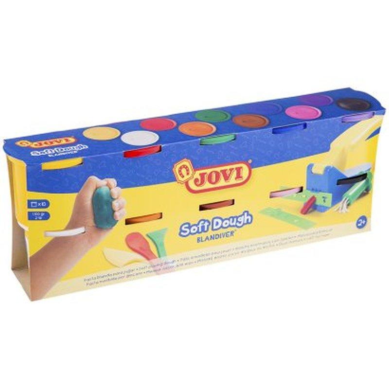 Тесто для лепки JOVI, 10 цветов*110г, картон 410S