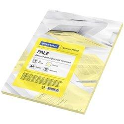 Бумага цветная OfficeSpace pale А4, 80г/м2, 50л. (желтый) 245188