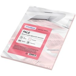 Бумага цветная OfficeSpace pale А4, 80г/м2, 50л. (розовый) 245191