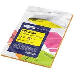 Бумага цветная OfficeSpace neon mix А4, 80г/м2, 100л. (5 цветов) 245192