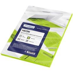 Бумага цветная OfficeSpace neon А4, 80г/м2, 50л. (зеленый) 245194