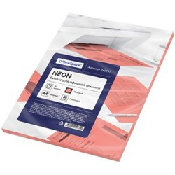 Бумага цветная OfficeSpace neon А4, 80г/м2, 50л. (розовый) 245197