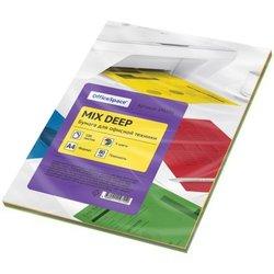 Бумага цветная OfficeSpace deep mix А4, 80г/м2, 100л. (4 цвета) 245198