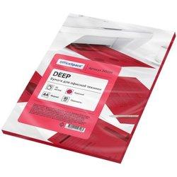 Бумага цветная OfficeSpace deep А4, 80г/м2, 50л. (красный) 245199