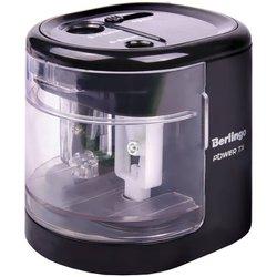 """Точилка электрическая Berlingo """"Power TX"""", черная, 2 отверстия, с контейнером, картон. уп. BEs_37001"""