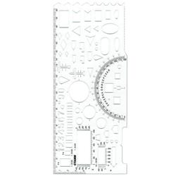 Линейка офицерская Стамм, гибкая, бесцветная, печатная шкала ТТ03