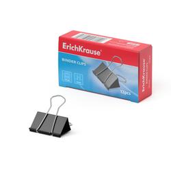 Зажимы для бумаг ErichKrause®, 19мм (коробка 12 шт.) 25086