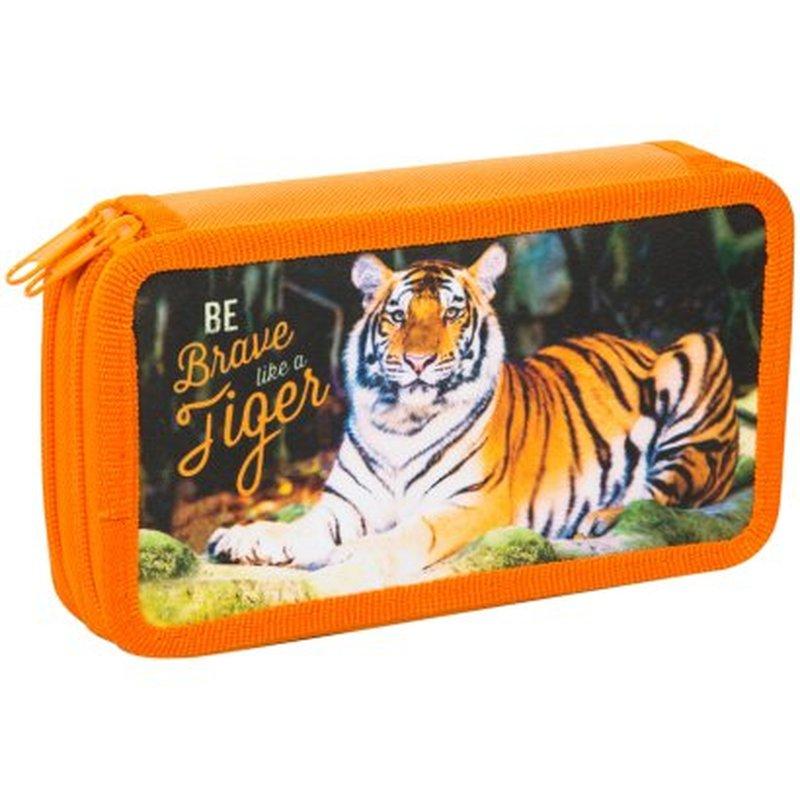 """Пенал 2 отделения, 190*110 ArtSpace """"Дикие кошки. Тигр"""", ткань ПК11-20_16312"""