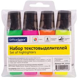 Набор текстовыделителей OfficeSpace 4цв., 1-5мм, ПВХ уп., европодвес H4_16451