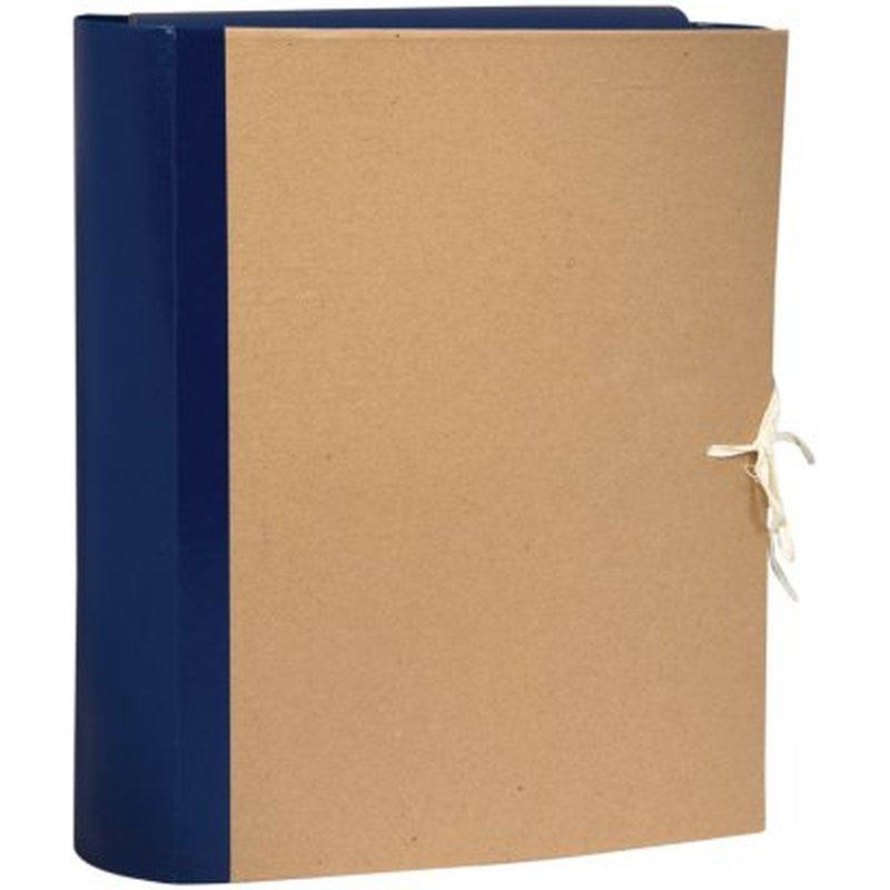 Папка архивная OfficeSpace, крафт/бумвинил, с 4 завязками, ширина корешка  80мм 255993