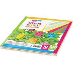 Цветная бумага для оригами и аппликации ArtSpace, 210*210мм, 100л., 10цв.  264197