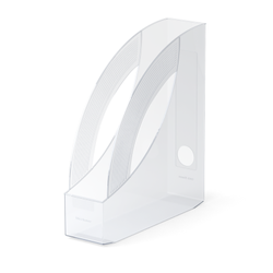 Подставка пластиковая для бумаг вертикальная ErichKrause® Rainbow, 75мм, прозрачный 26502
