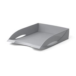 Лоток пластиковый для бумаг ErichKrause® Rainbow, серый 26576