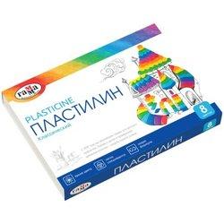 "Пластилин Гамма ""Классический"", 8 цветов, 160г, со стеком, картон 281031"