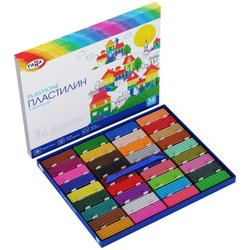 "Пластилин Гамма ""Классический"", 36 цветов, 720г, со стеком, картон 281037"
