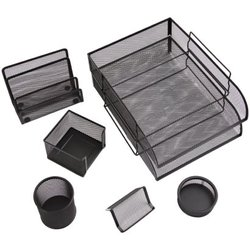 """Настольный набор из металла Berlingo """"Steel&Style"""", 7 предметов, черный BMs_41702"""