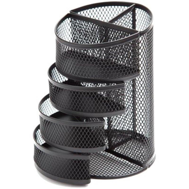 """Настольная подставка Berlingo """"Steel&Style"""", металлическая, 6 секций, черная BMs_41172"""