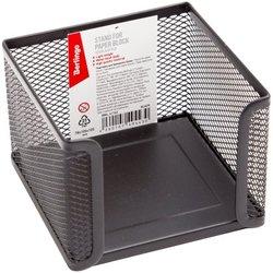 """Подставка для бумажного блока Berlingo """"Steel&Style"""", металлическая, черная BMs_41142"""