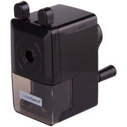 Точилка механическая OfficeSpace, пласт. корпус, черная, инд. упак. SH_6004