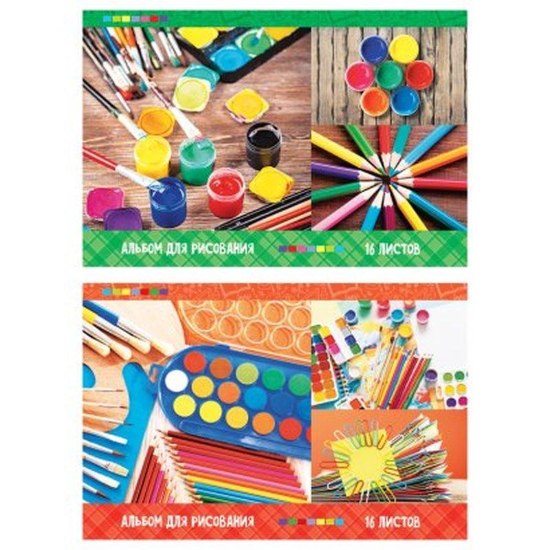 """Альбом для рисования 16л., А4, на скрепке ArtSpace """"Яркие краски"""" А16Э_23027"""