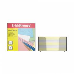 Бумага настольная ErichKrause®, 90x90x50 мм, 2 цвета: белый, желтый, в пластиковом контейнере 2720