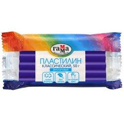 """Пластилин Гамма """"Классический"""", фиолетовый, 50г 270818_08"""