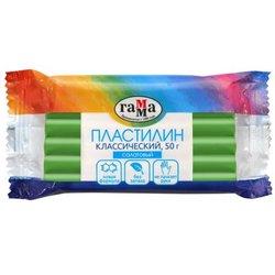 """Пластилин Гамма """"Классический"""", салатовый, 50г 270818_09"""