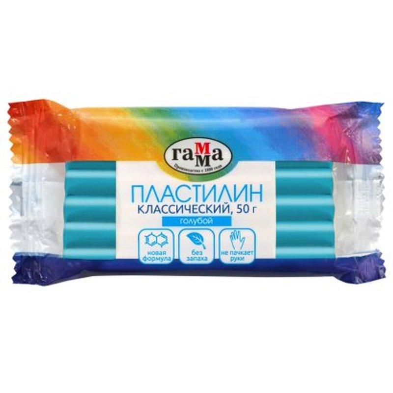 """Пластилин Гамма """"Классический"""", голубой, 50г 270818_10"""