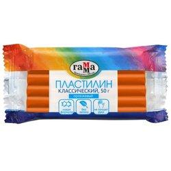 """Пластилин Гамма """"Классический"""", оранжевый, 50г 270818_11"""