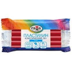 """Пластилин Гамма """"Классический"""", алый, 50г 270818_12"""