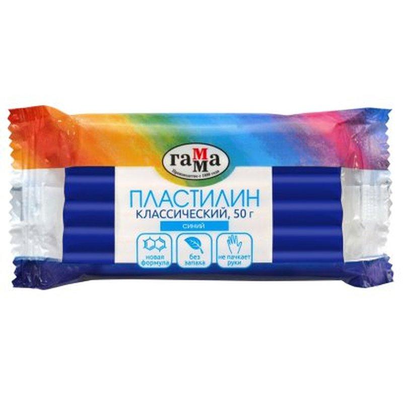 "Пластилин Гамма ""Классический"", синий, 50г 270818_13"