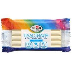 """Пластилин Гамма """"Классический"""", белый, 50г 270818_14"""