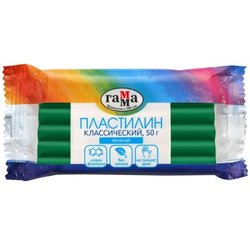 "Пластилин Гамма ""Классический"", зеленый, 50г 270818_15"