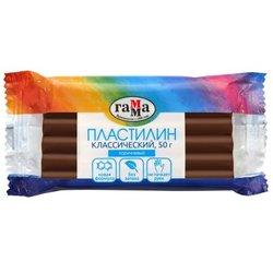 "Пластилин Гамма ""Классический"", коричневый, 50г 270818_16"
