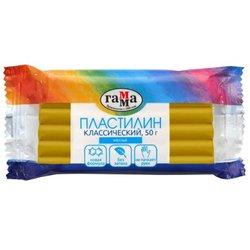 """Пластилин Гамма """"Классический"""", желтый, 50г 270818_17"""