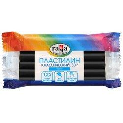 """Пластилин Гамма """"Классический"""", черный, 50г 270818_18"""