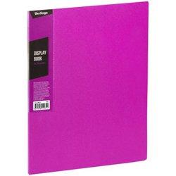 """Папка с 20 вкладышами Berlingo """"Color Zone"""", 14мм, 600мкм, розовая AVp_20613"""