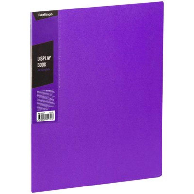 """Папка с 20 вкладышами Berlingo """"Color Zone"""", 14мм, 600мкм, фиолетовая AVp_20607"""