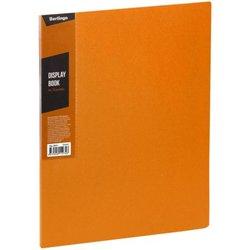 """Папка с 20 вкладышами Berlingo """"Color Zone"""", 14мм, 600мкм, оранжевая AVp_20616"""