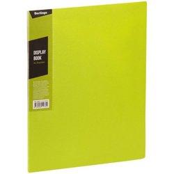 """Папка с 20 вкладышами Berlingo """"Color Zone"""", 14мм, 600мкм, салатовая AVp_20619"""