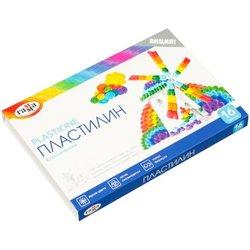 "Пластилин Гамма ""Классический"", 16 цветов, 320г, со стеком, картон 281034"