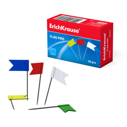 Флажки ErichKrause® цветные (коробка 50 шт.) 28232