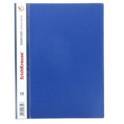 Папка файловая пластиковая  ErichKrause® Diamond, с 10 прозрачными карманами, A4, синий  2835