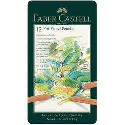 "Пастельные карандаши Faber-Castell ""Pitt Pastel"" 12цв., метал. коробка 112112"