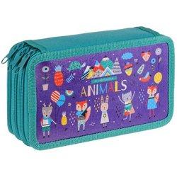 """Пенал 3 отделения, 190*110 ArtSpace """"Animals"""", ламинированный картон ПК3_29128"""