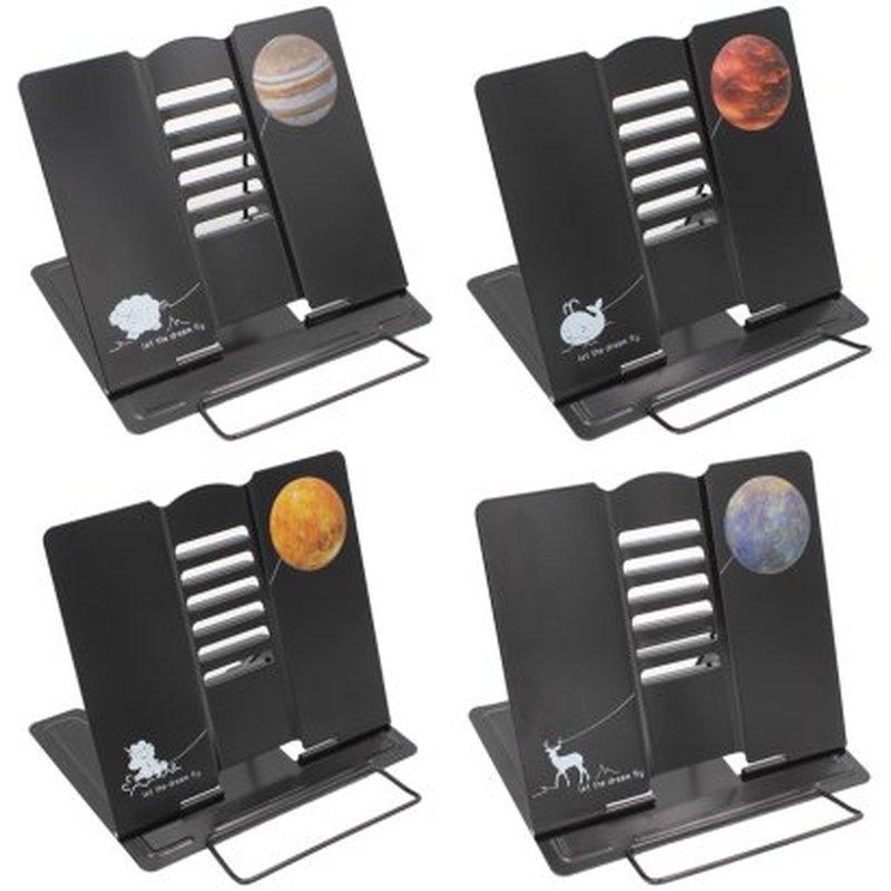 """Подставка для книг ArtSpace """"Планеты"""", регулируемый угол наклона, черная 297431"""