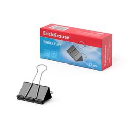 Зажимы для бумаг ErichKrause®, 32мм (коробка 12 шт.) 2983