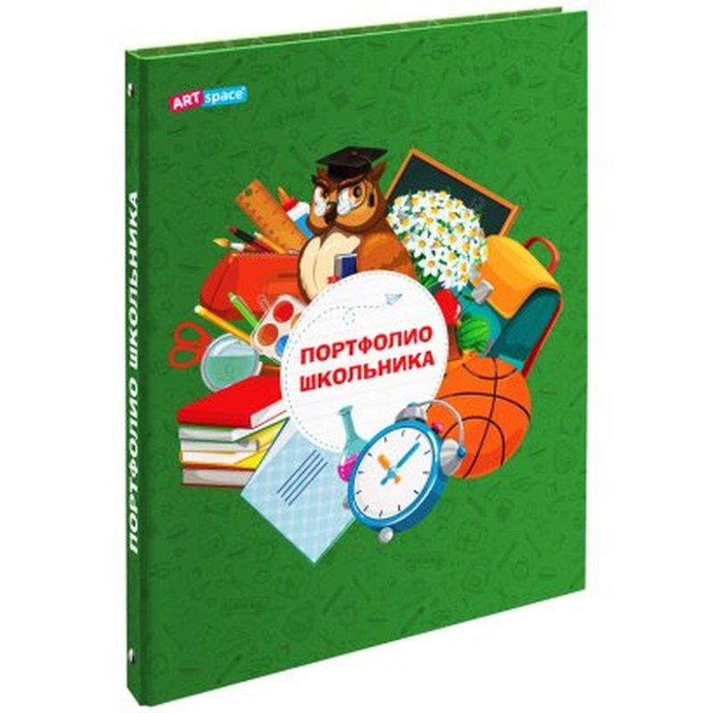 Папка-портфолио 7БЦ А4 ArtSpace, на 4 кольцах для школьника, 20 файлов, 10 вкладышей 304898