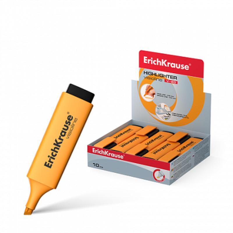 Текстмаркер ErichKrause® Visioline V-20, цвет чернил оранжевый 30943