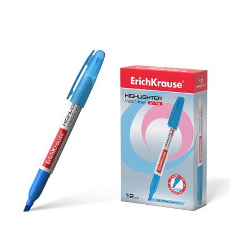 Текстмаркер ErichKrause® Visioline V-15, цвет чернил голубой 30969